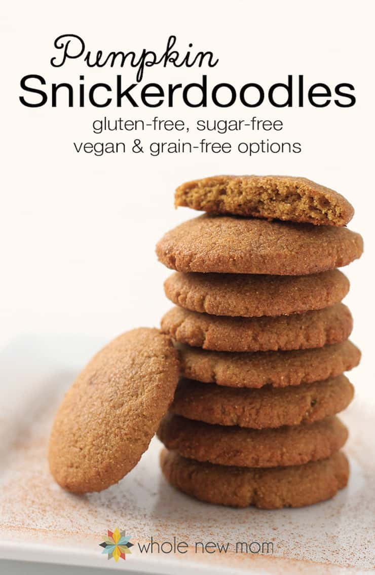 Stack of several pumpkin snickerdoodle cookies