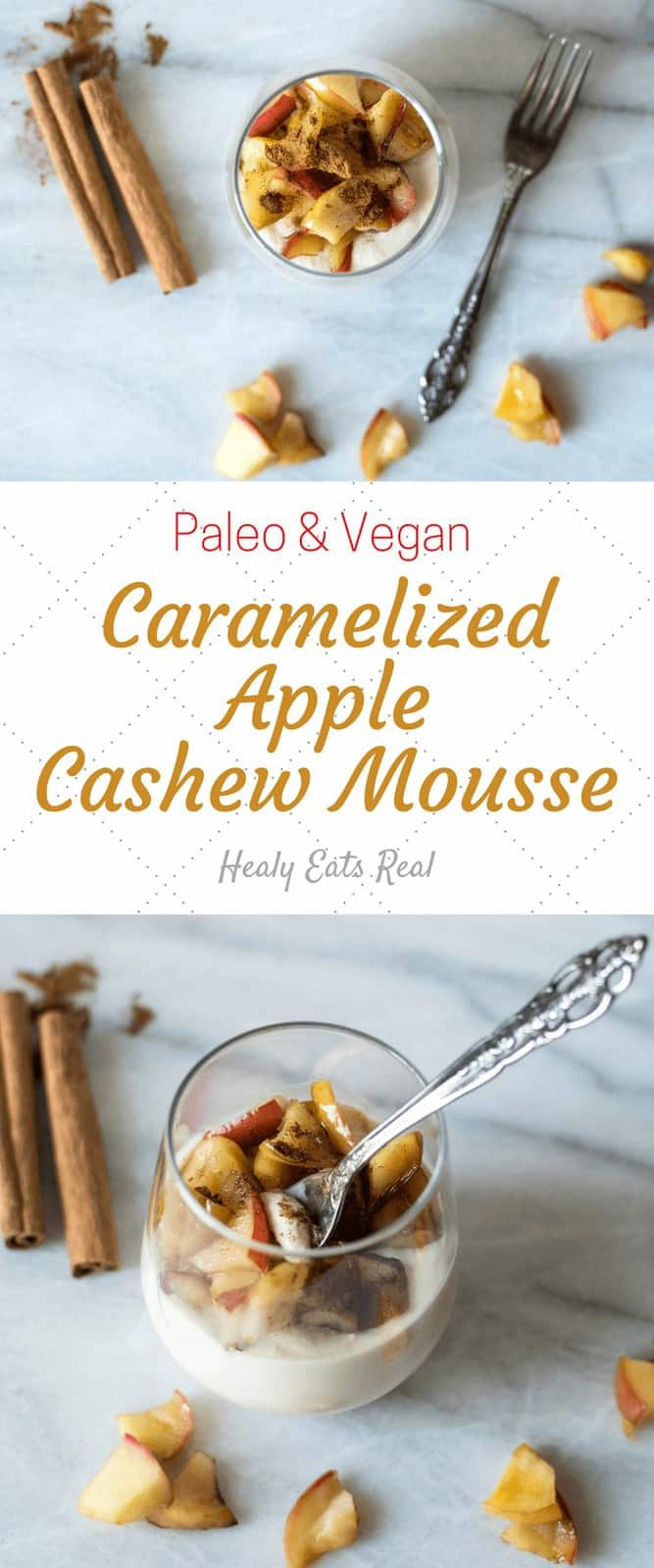 Healthy Caramelized Apple Cashew Mousse Recipe (Paleo & Vegan)