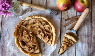 Rustic Apple Tart with Walnuts (Paleo & Gluten Free)