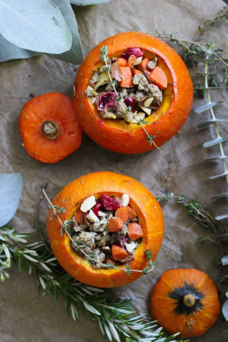stuffing stuffed pumpkin paleo recipe