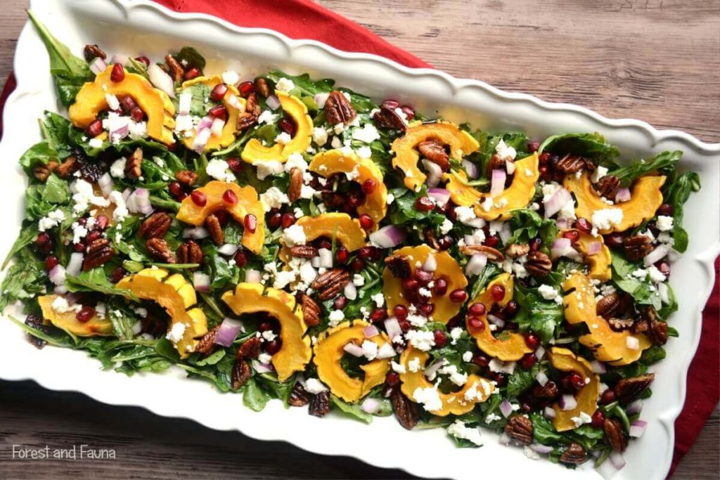 squash salad with maple balsamic dressing paleo recipe