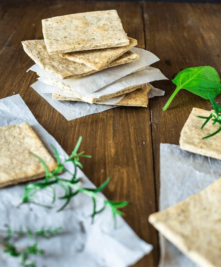 Homemade Almond Herb Cracker Recipe Basil