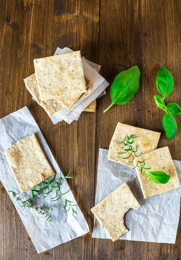 Homemade Almond Herb Cracker Recipe Gluten Free
