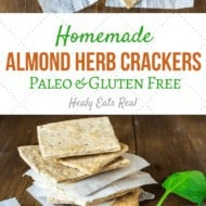 Homemade Almond Herb Cracker Recipe (Paleo & Gluten Free)