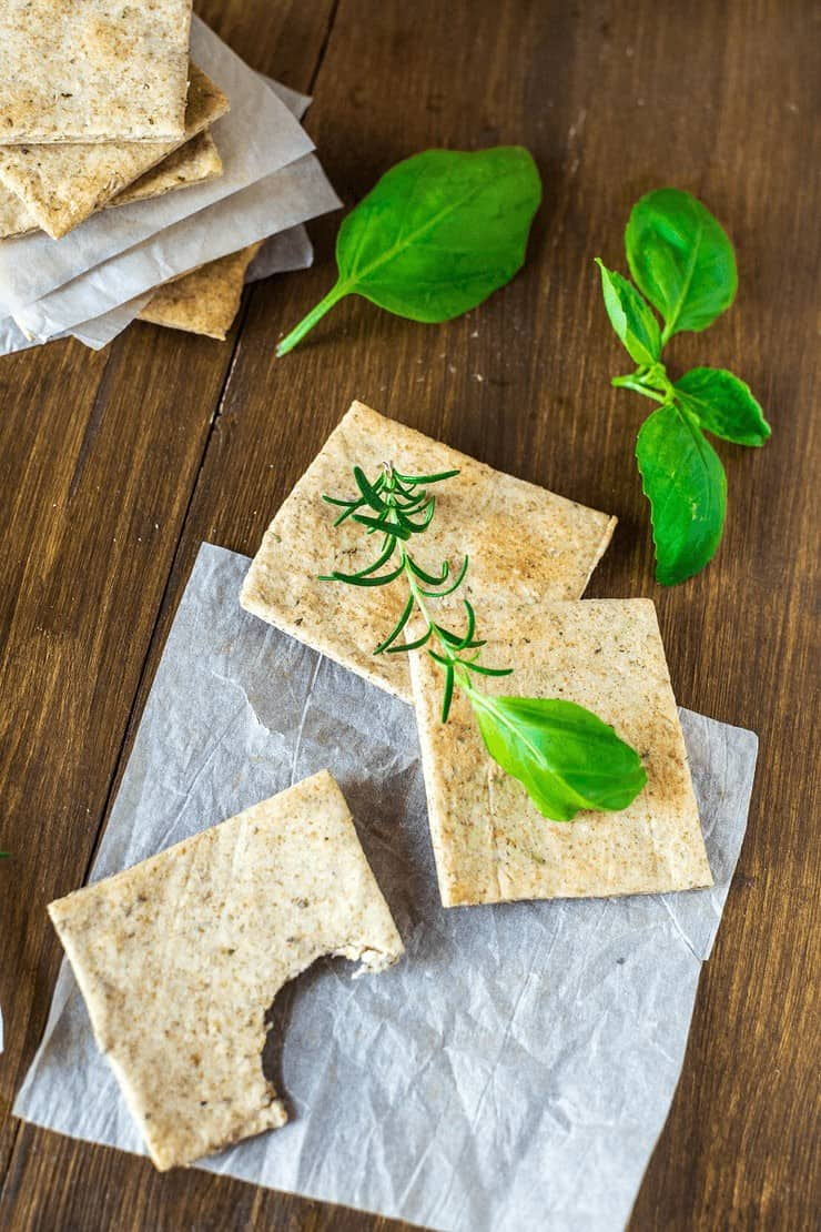 Homemade Almond Herb Cracker Recipe Thyme