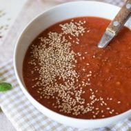 Fresh Tomato Soup Recipe (Paleo & Vegan)