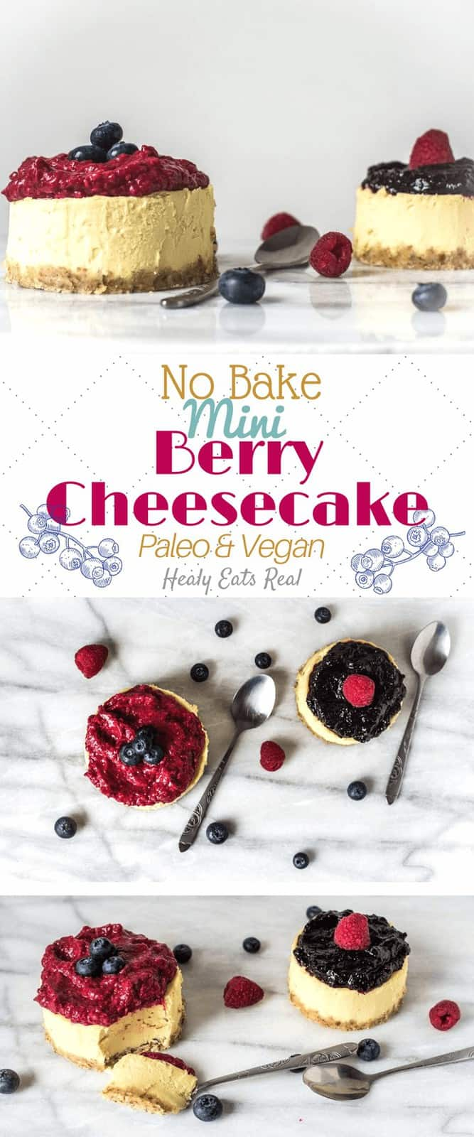 No Bake Mini Berry Cheesecake (Paleo & Vegan)