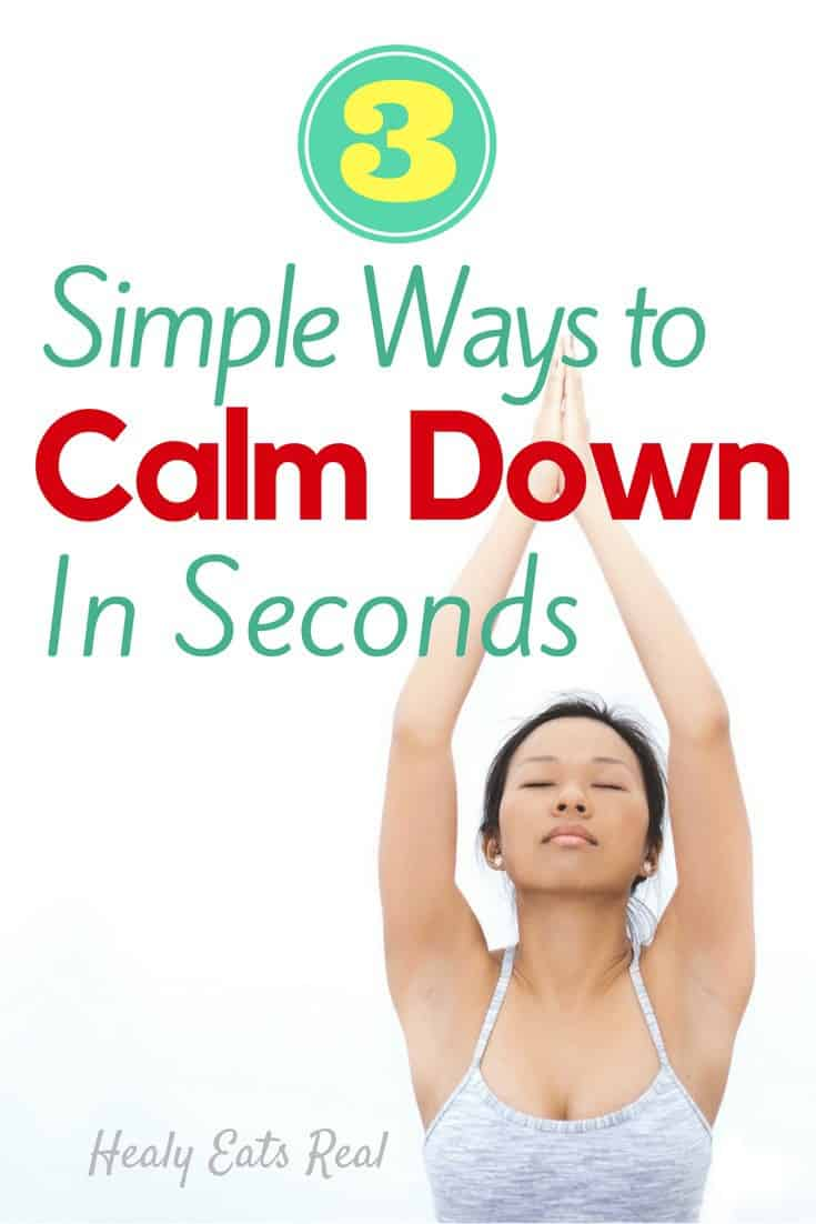 3 Simple Ways to Calm Down in Seconds--Knowing a few ways to calm down when stressed is so important. When nervous, just use these 3 simple tools to learn how to calm down in seconds.
