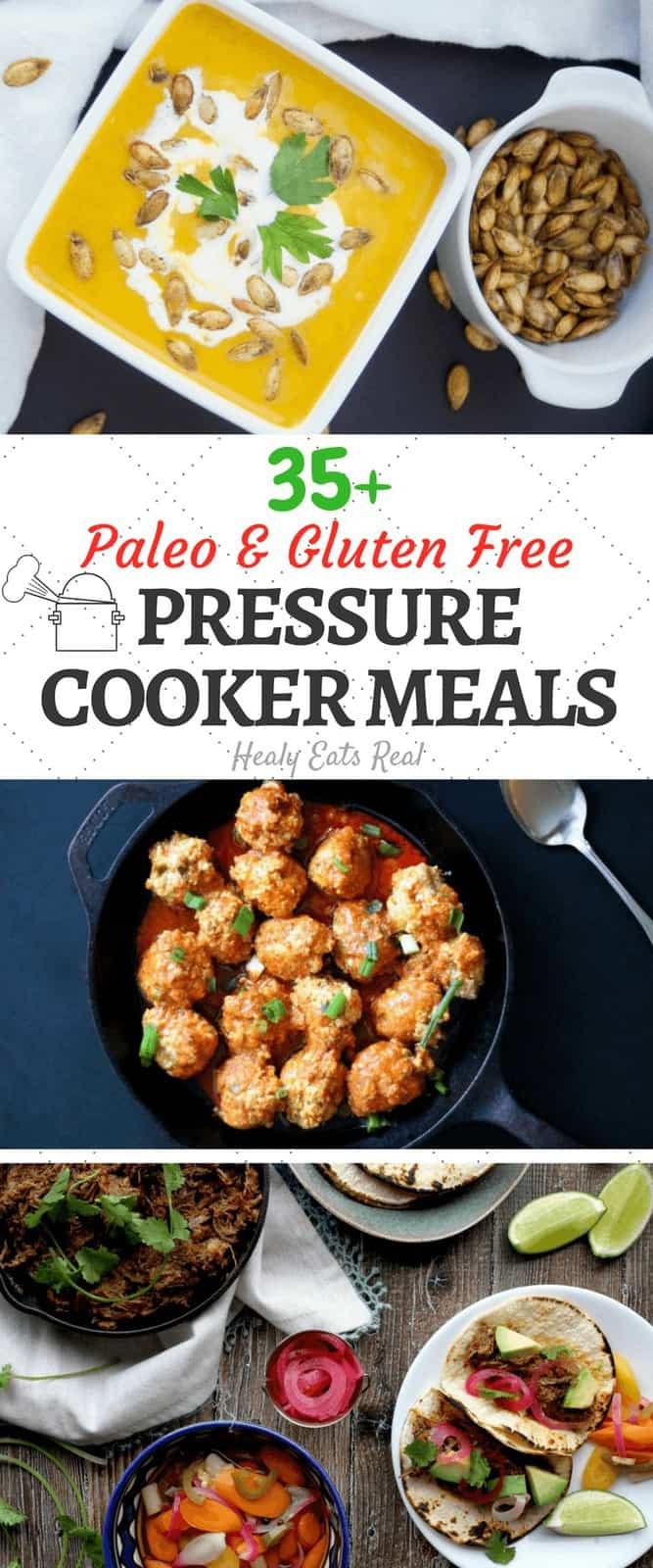 Paleo Instant Pot Pressure Cooker Meal Recipes (Gluten Free & Dairy Free)