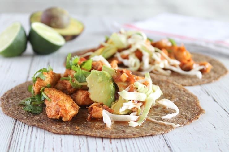 Easy Chipotle Lime Vegan Keto Tacos 6