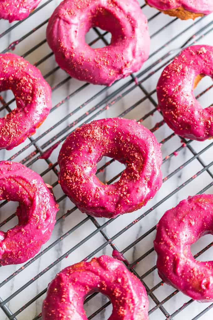 grain-free strawberry cake doughnuts