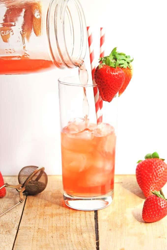 strawberry nettle iced tea