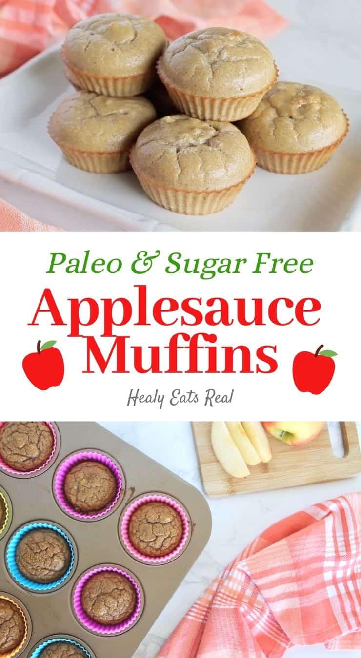 Healthy Applesauce Muffins (Paleo & Gluten Free)
