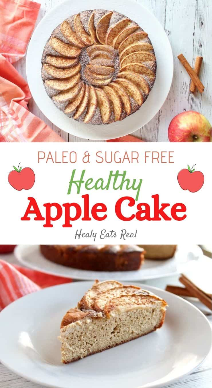 Healthy Apple Cake (Paleo, Low Carb & Sugar Free)