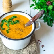 Creamy Roasted Vegetable Soup (Paleo & Vegan)
