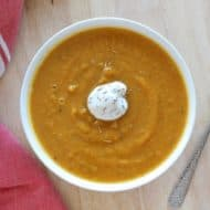 Easy Butternut Squash Soup Recipe (Paleo, Whole30 & Vegan)