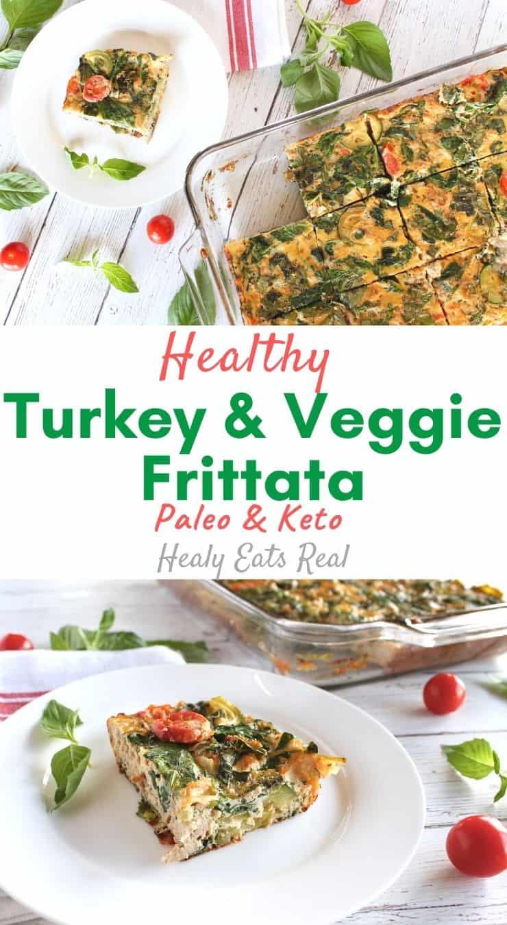 Turkey & Veggie Baked Frittata Recipe (Paleo & Keto)