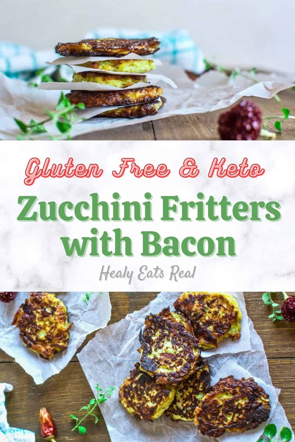 Gluten Free Zucchini Fritters with Bacon (Paleo & Keto)