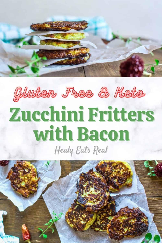Gluten Free Zucchini Fritters with Bacon (Paleo & Keto)